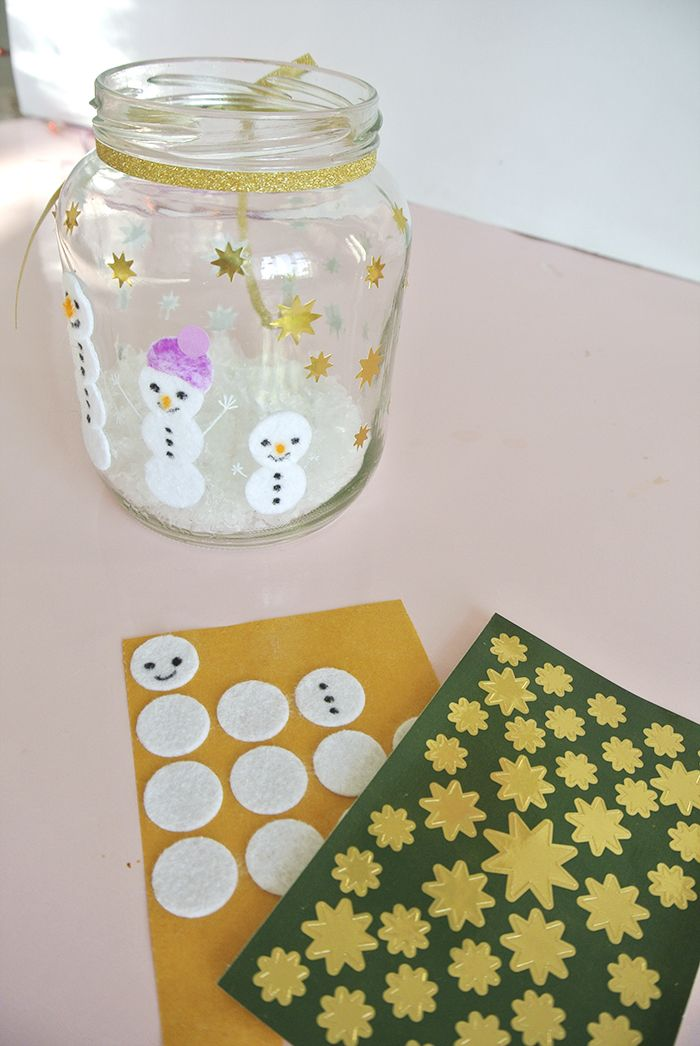 Einfache DIY Ideen für Weihnachten - schöne Teelichter selbermachen - Rosanisiert
