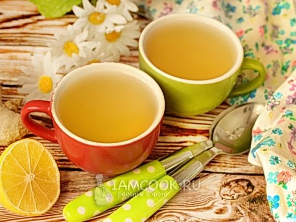 Чай с ромашкой, лимоном и имбирём — рецепт с фото, шаг за ...