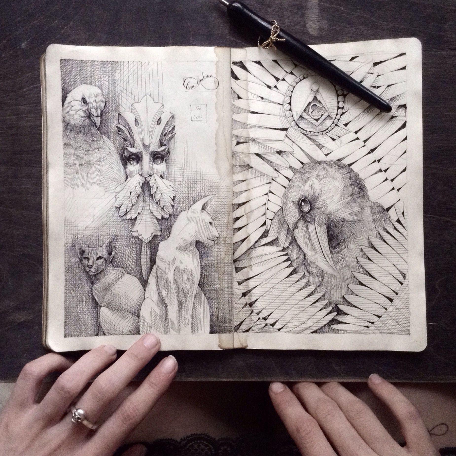 Ink Sketches Moleskine Sketchbooks Moleskine Skizzen