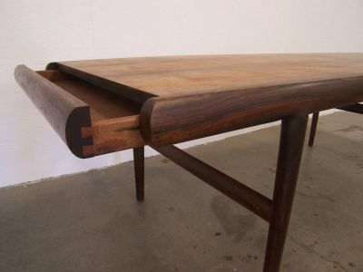 Simple Vintage rosewood coffee cocktail table with stash drawer and drink shelf manufactured in Denmark and recently imported Excellent unrestored condition Pictures - Contemporary rosewood coffee table HD