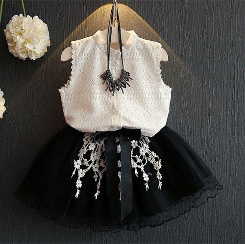 Buy Now Kids Girls Sleeveless Suit New Summer Children S Cotton