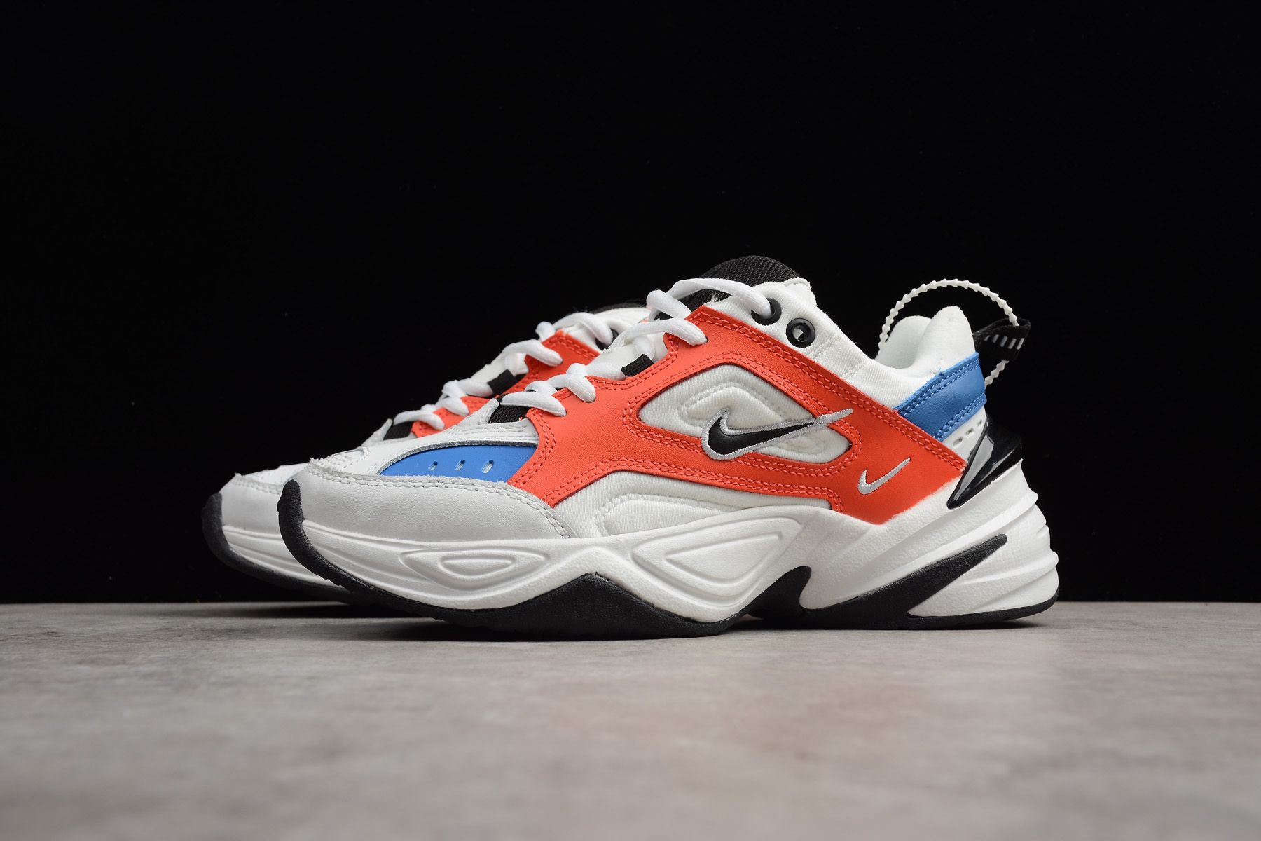 newest f3f41 b5e8e Mens and WMNS Nike M2K Tekno Summit White Black-Team Orange AO3108-101