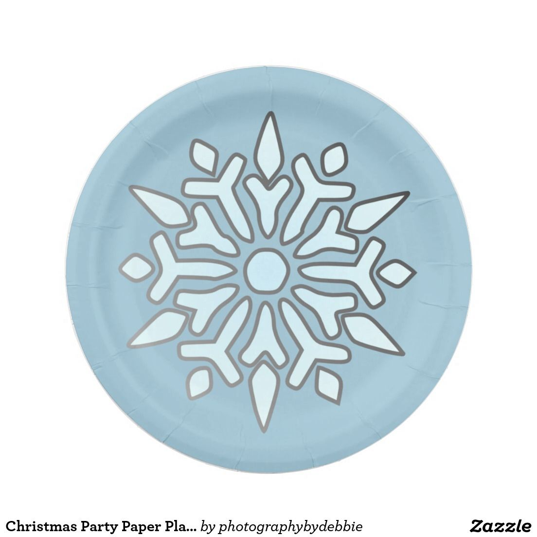 sc 1 st  Pinterest & Christmas Party Paper Plate-Snowflake Paper Plate