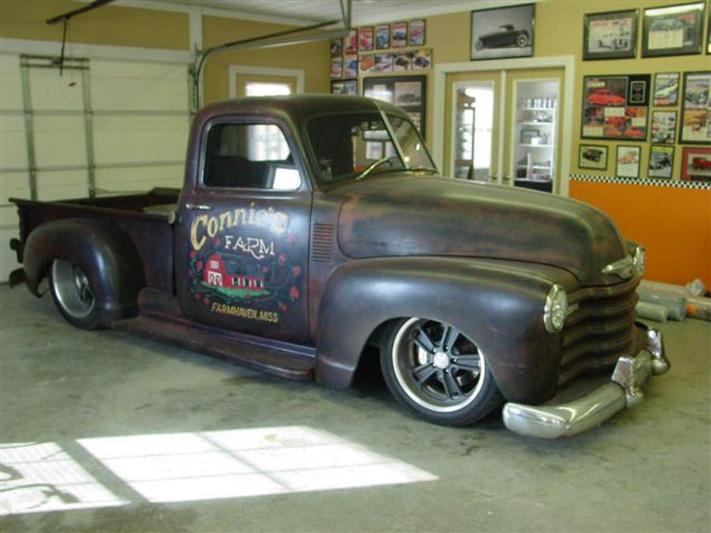 1955 chevrolet hot rod truck pictures to pin on pinterest - 1952 Chevy Rat Rod Pickup So So Want One