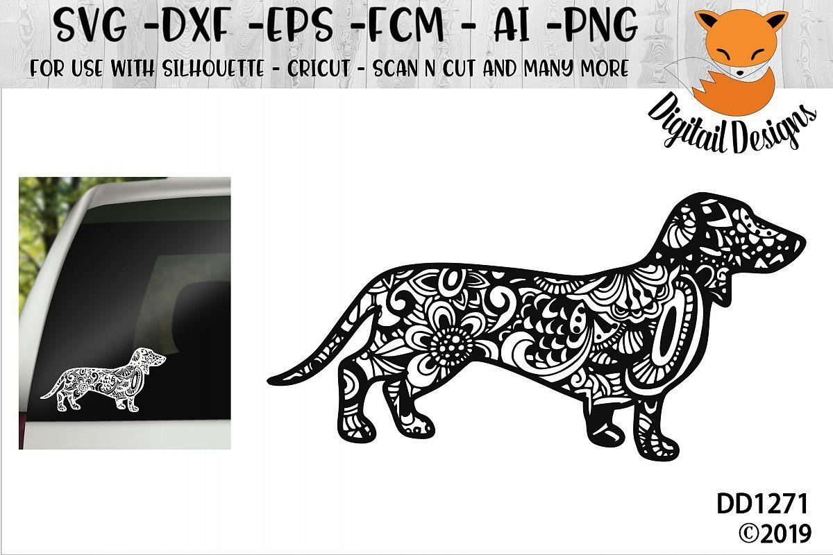 Zentangle Dachshund Dog Svg Example Image 1 Dachshund Dog Funny Dachshund Dachshund