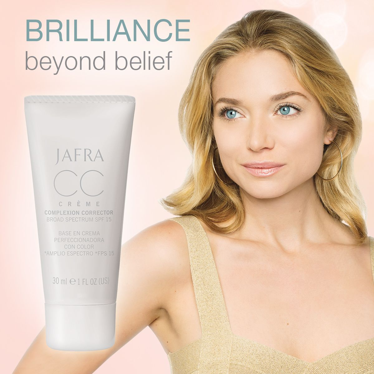 JAFRA's CC Crème Complexion Corrector gives you skin care and Makeup in 1 simple step!