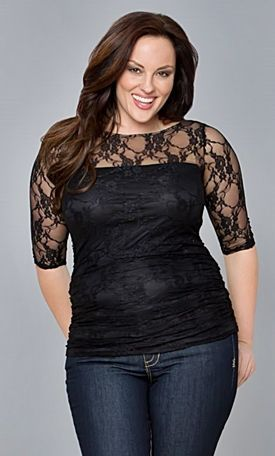 37b56695723c 5 flattering black tops for stylish women Plus Size Tops, Online Shopping  For Women,