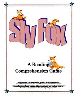 Sly Fox: A Reading Comprehension Game for Most Subjects