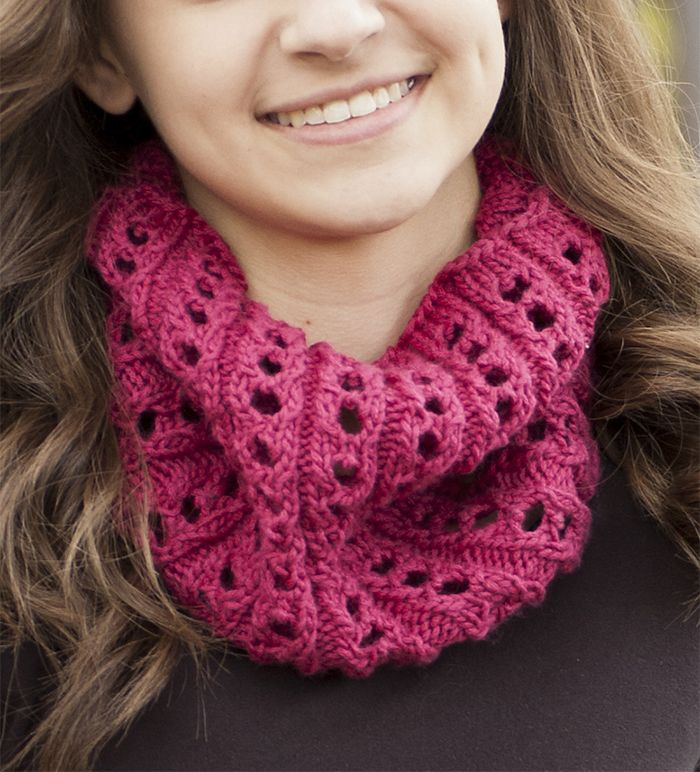 Free Knitting Pattern For Easy Large Eyelet Rib Cowl Easy Cowl