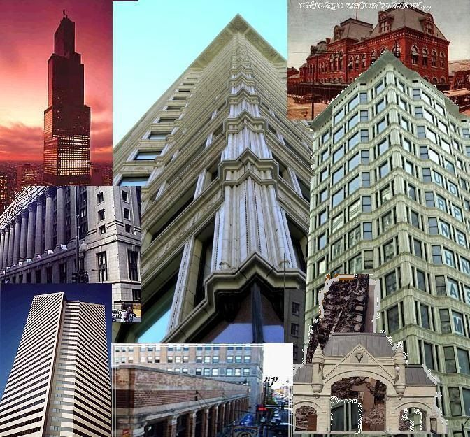 CHICAGO ARCHITECTURE COLLAGE NP