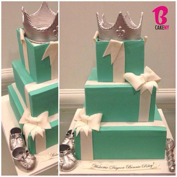 """Tiffany Baby Shower Cake - Baileys Cream Cake."""