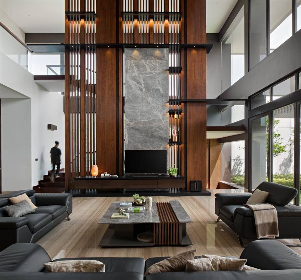 Spacious living room architecture interior design commercial arquitetura nest design