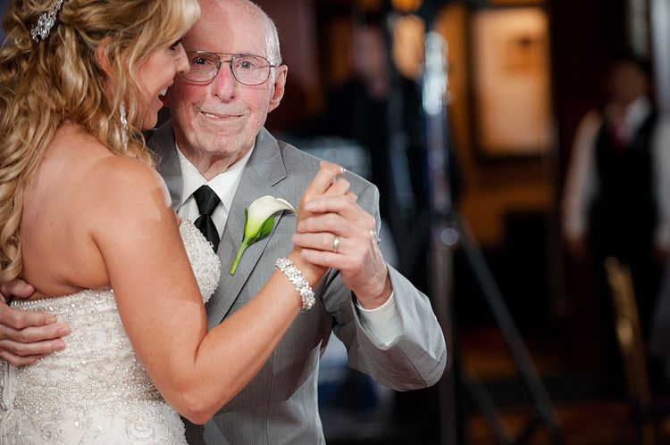 Father-Daugher Dance during a Pink and Purple Wedding at the Key Bridge Marriott in Arlington VA | Kelly Ewell Photography
