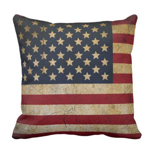 Grunge Usa Pillow American Flag Cushion Zazzle Com Pillows Throw Pillows Decorative Pillow Cases