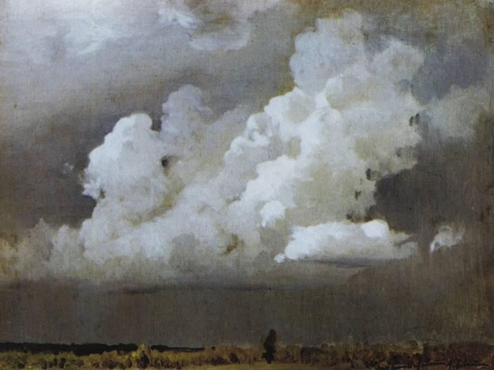 Isaac Levitan  (Lithuanian-Russian landscape painter 1860-1940)  Before the storm, 1890  Oil on canvas