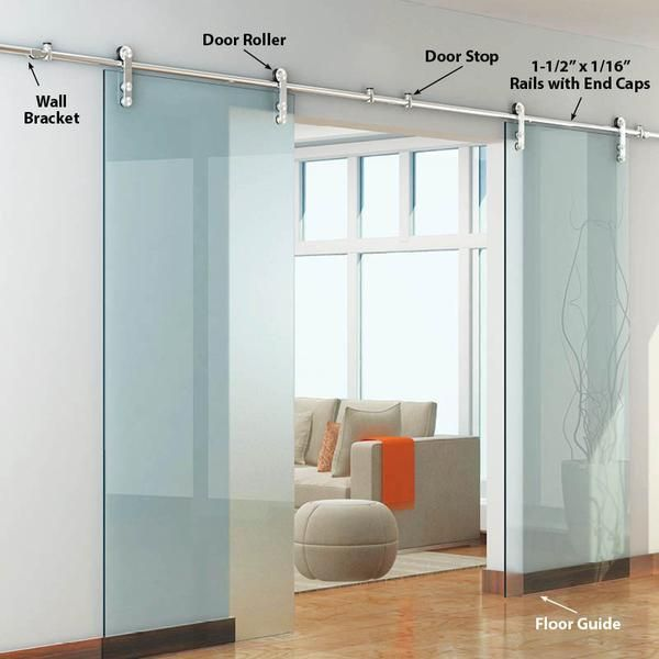 The Skyline Ii Double Glass Door Kits Barndoor Doors Interior Double Glass Doors Sliding Doors Interior