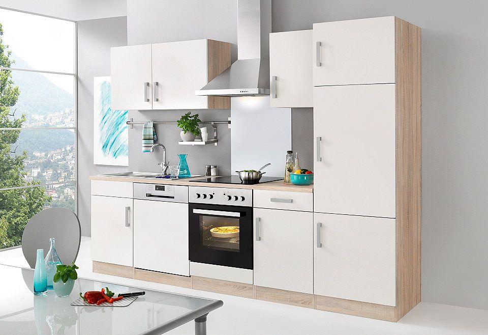 HELD MÖBEL Küchenzeile mit E-Geräten »Toronto, Breite 280 cm - küchenblock 270 cm