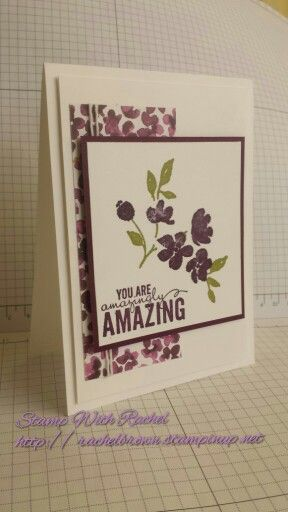 Stampin up painted petals stamp set & painted blooms dsp 2015 occasions catalog I cased this card from one similar in the occasions catalog.