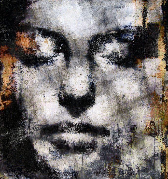 "www.mosaicsart.co.uk · Mosaic Wall Panel inspired by Max Gasparini ""Musa"" – classical and realistic"