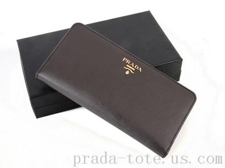 Fashion #Prada 1M1246 Wallets in Coffee Outlet store