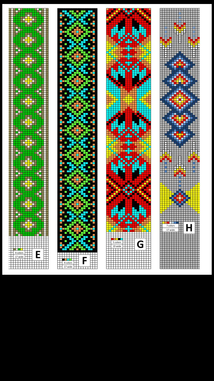 Bead Patterns Made By Collier S Tack Supply Perlenarmband Muster Webmuster Perlenschmuck Muster