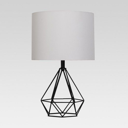 Tie Your Whole Space Together With This Diamond Wire Table Lamp With Painted Base From Project 62 153 Modern And Chic Geometric Table Lamp Lamp Table Lamp
