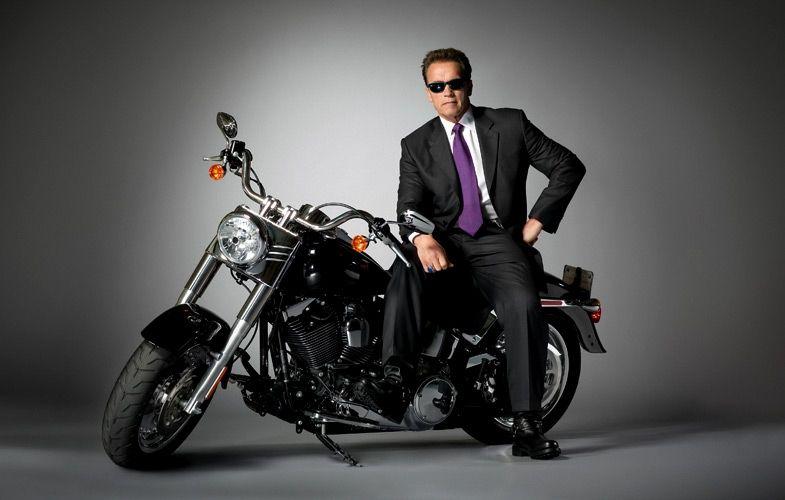 """Arnold in """"The Terminator"""".   Empire magazine 20th anniversary issue... brought in some famous actors for a photo shoot based on some of their iconic roles."""