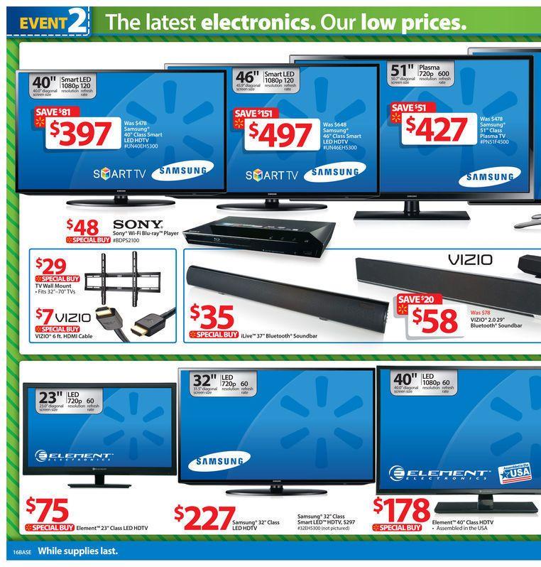 Walmart Black Friday 2013 Ad Page 16 Ad Blackfriday Sales Deals Coupons Samsung Tv Led Hdt Black Friday Tv Deals Walmart Black Friday Ad Black Friday