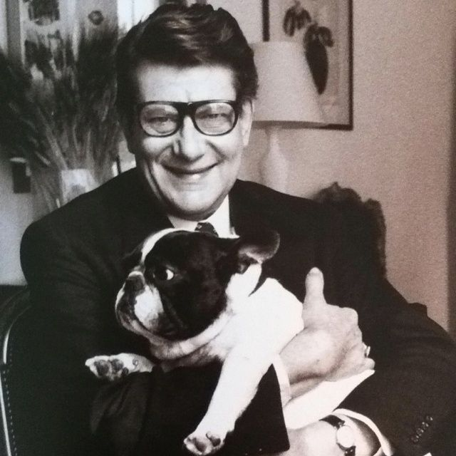 6f9919826c8c4 Yves St Laurent et Moujik, his French Bulldog❤   Axel Rico ...