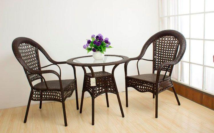 conjunto mesa y sillas cuerda