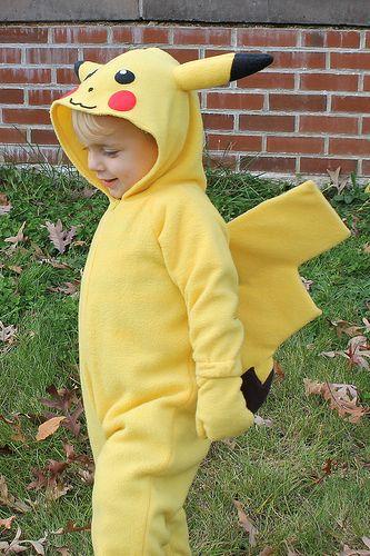 Kids Pikachu Costume - Side View  90f1103c4078