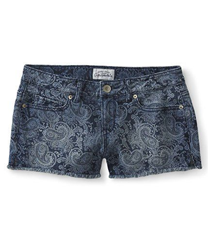 511c6a4654d71 Aeropostale Womens Paisley Shorty Casual Denim Shorts 189 56 ...