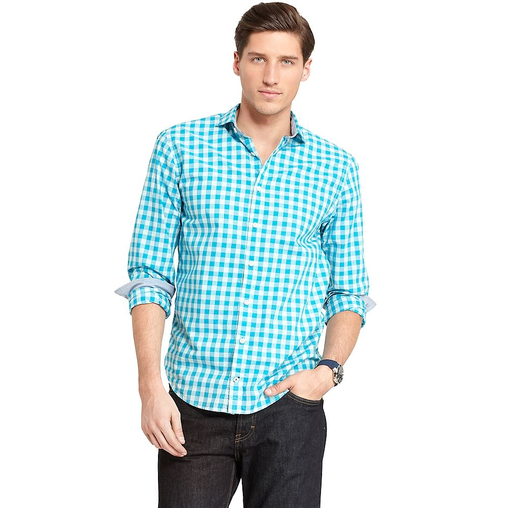 New York Fit Check Shirt by Tommy Hilfiger #checkered #classic #prep #menswear