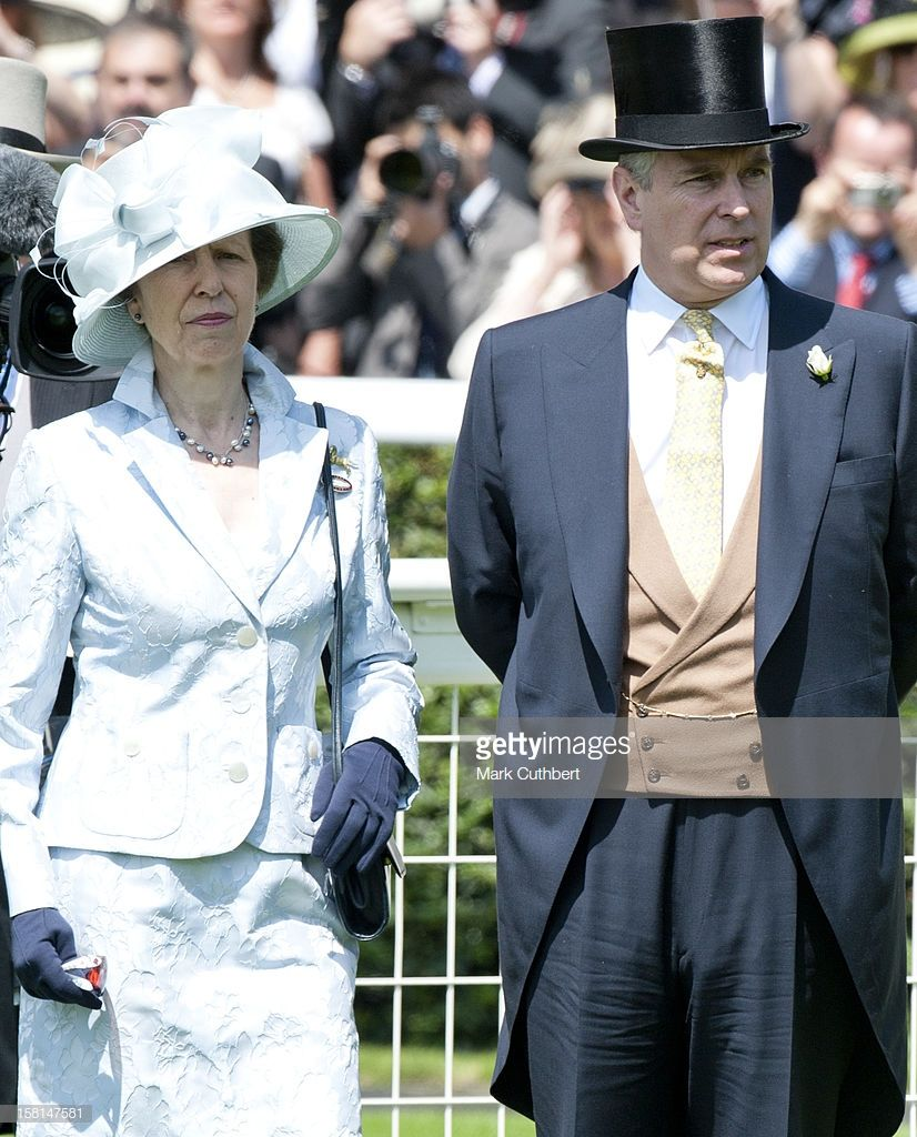 Princess Anne And Prince Andrew At The First Day Of Royal