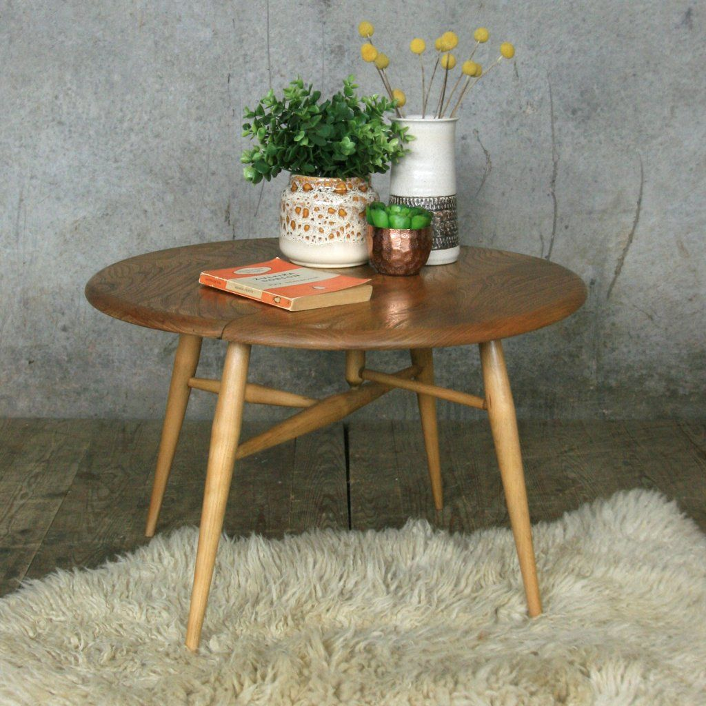 Ercol Mid Century Drop Leaf Coffee Table Mid century Leaves and