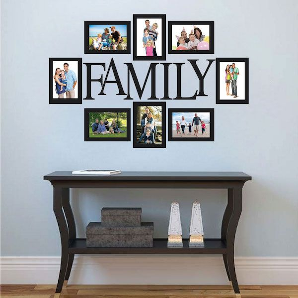 Wall Quote Family Picture Frame | Family picture frames, Family ...