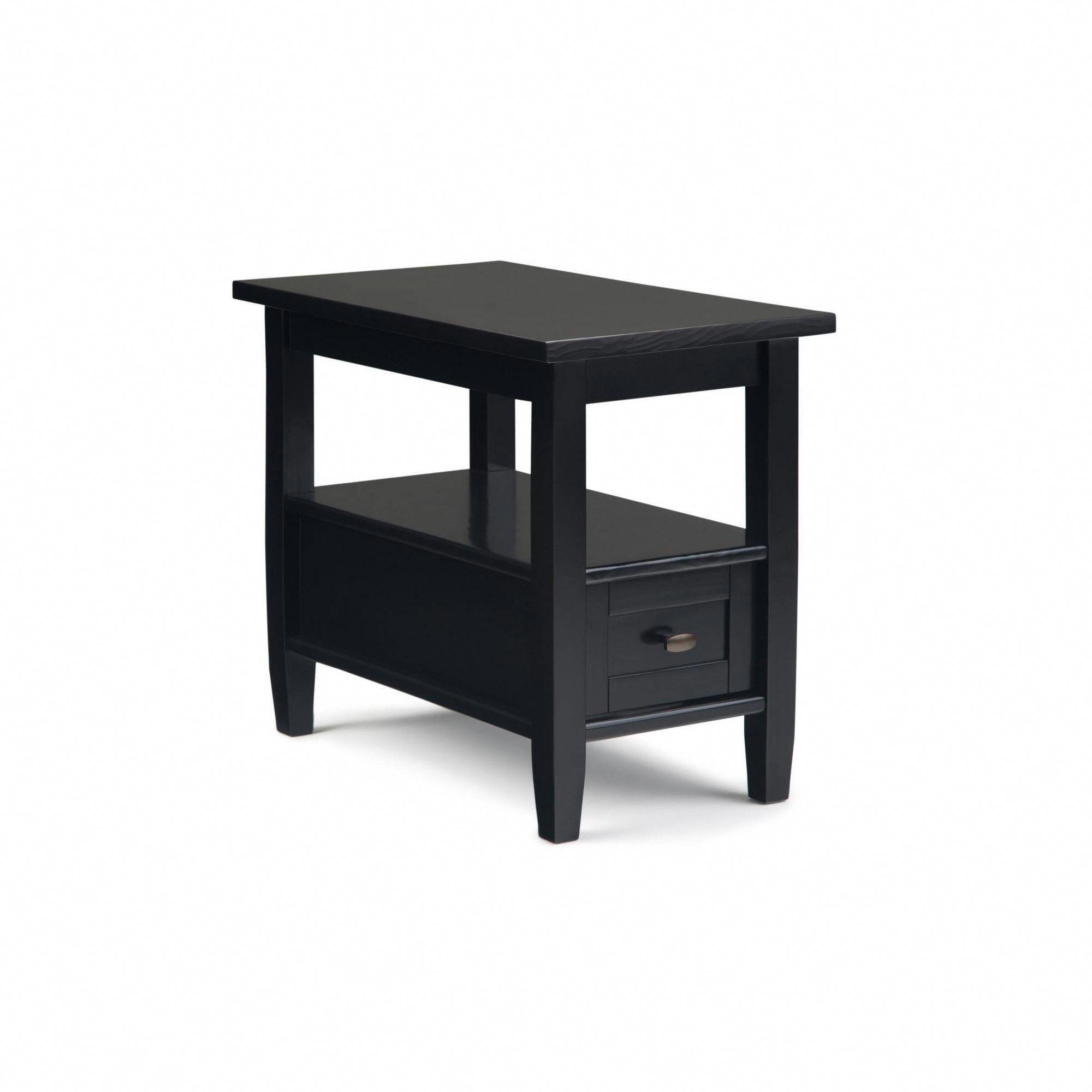 14 Norfolk Narrow Side Table Black Wyndenhall Narrow Side Table Simpli Home Wood End Tables