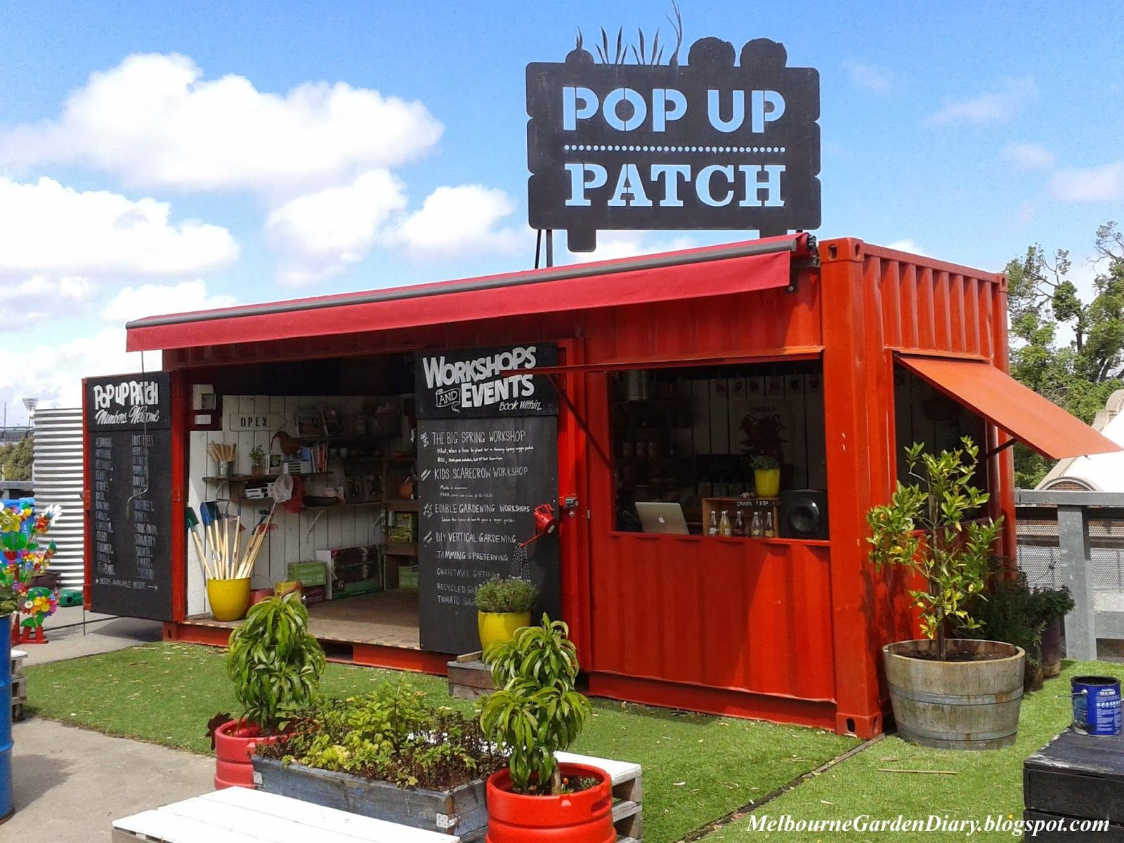 Solitas pop up container pinterest for Agencement container