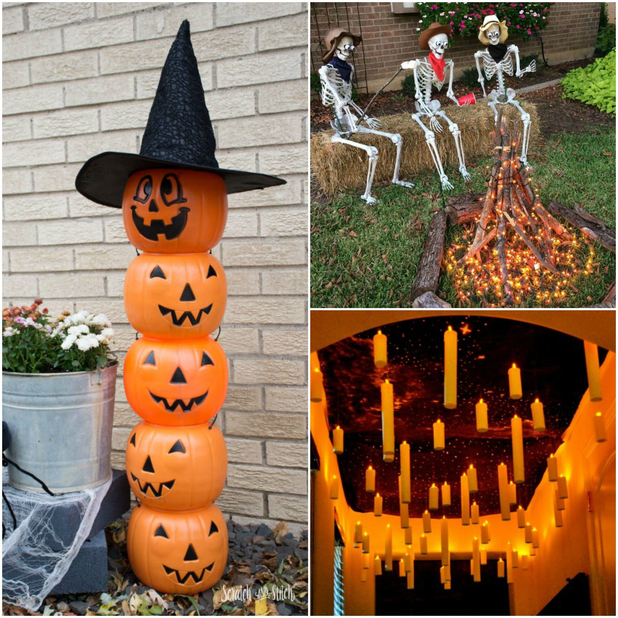From topical to classic, we've got you covered! These front yard ideas for Halloween are so freaking awesome! All your neighbors … | Diy ...
