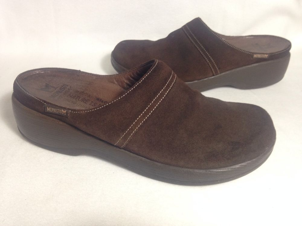 d6c9ab85123 Mephisto Air Relax Brown Leather Womens Clogs Size 7.5  Mephisto  Clogs