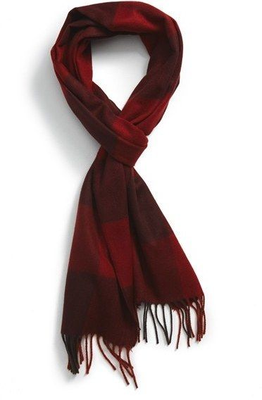 $42, Ted Baker London Tayo Buffalo Check Scarf. Sold by Nordstrom. Click for more info: https://lookastic.com/men/shop_items/388672/redirect