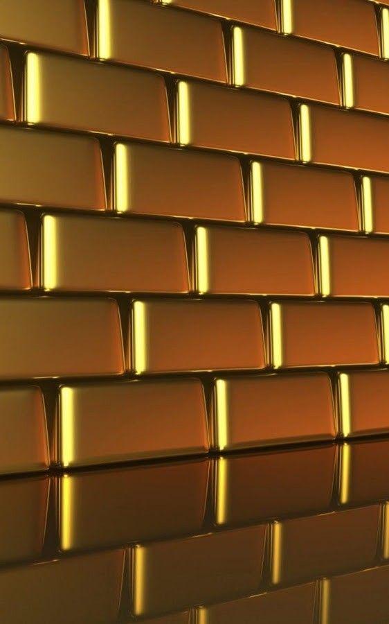 Gold Bricks Wallpaper Brick Wallpaper Textured Brick Wallpaper Wallpaper