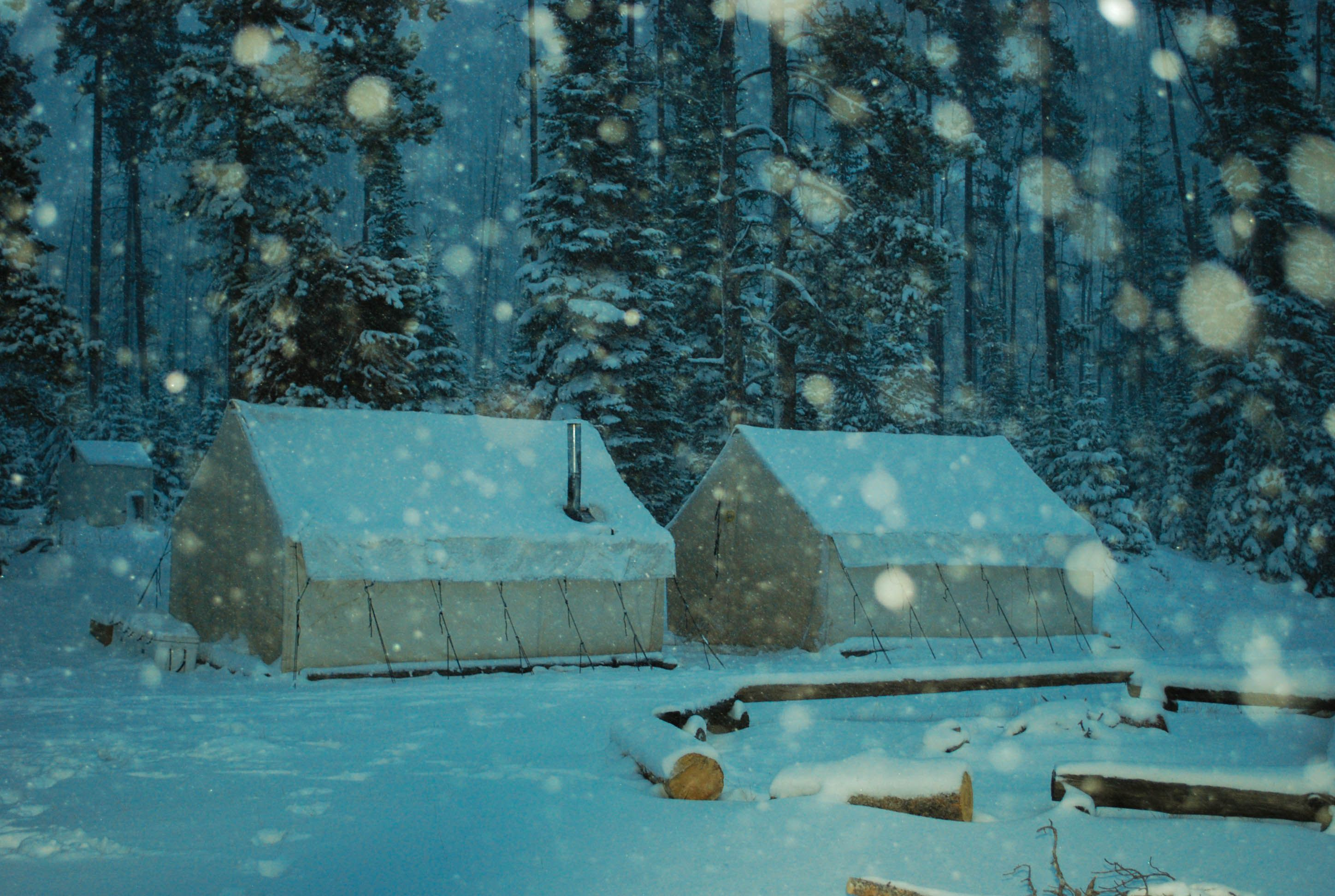 Wall tents in the snow. Wilderness c& - Scapegoat Mountain Bob Marshall Wilderness & Wall tents in the snow. Wilderness camp - Scapegoat Mountain Bob ...