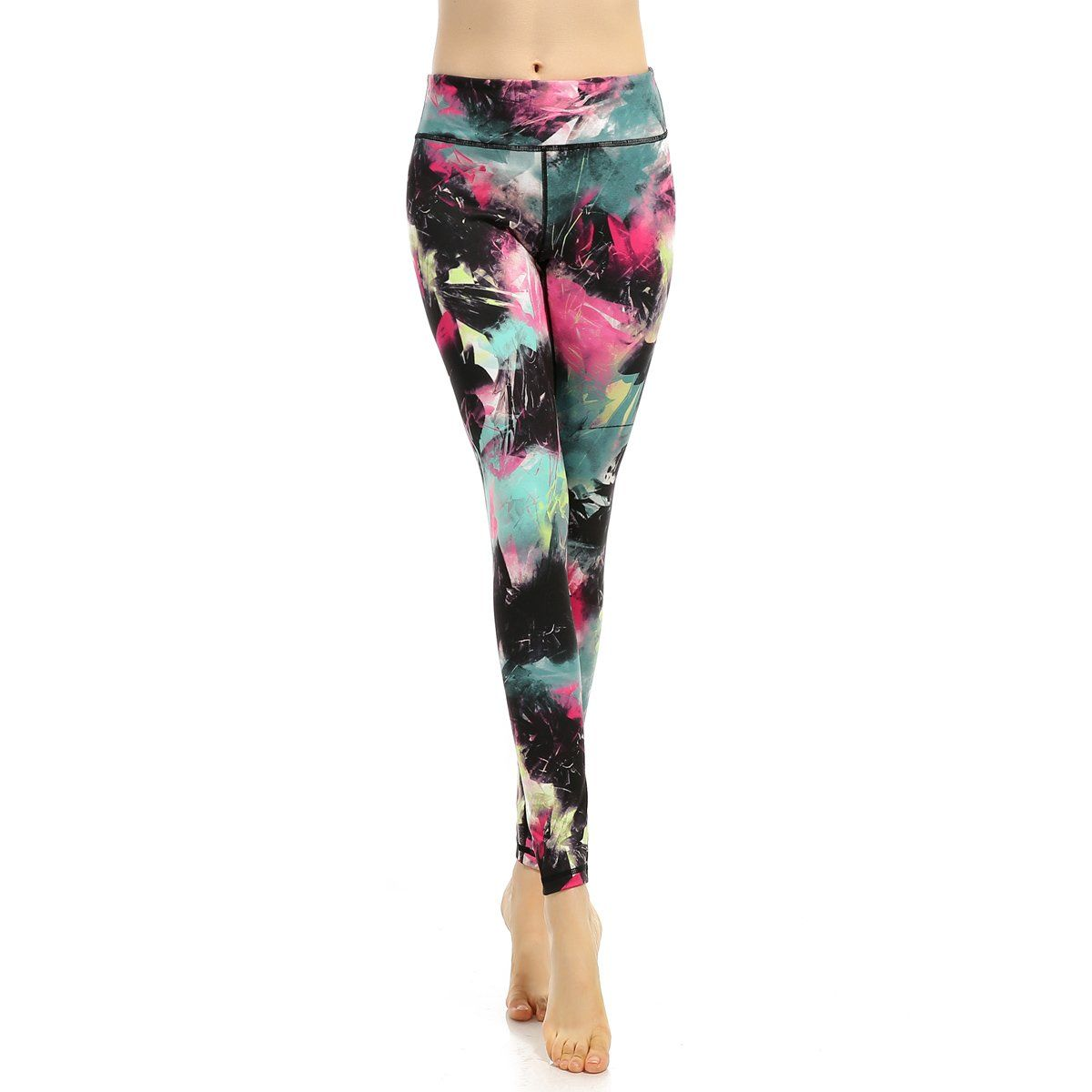 c880afaf83aab Women's Workout Leggings Printed Yoga Pants Active High Waist Gym Pants(XL,