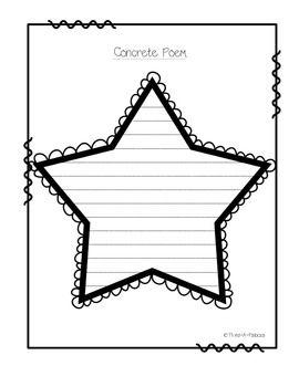 template star concrete poem poem kids poems and writing centers. Black Bedroom Furniture Sets. Home Design Ideas