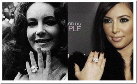 kim kardashian or elizabeth taylor who has superior jewels - Elizabeth Taylor Wedding Ring