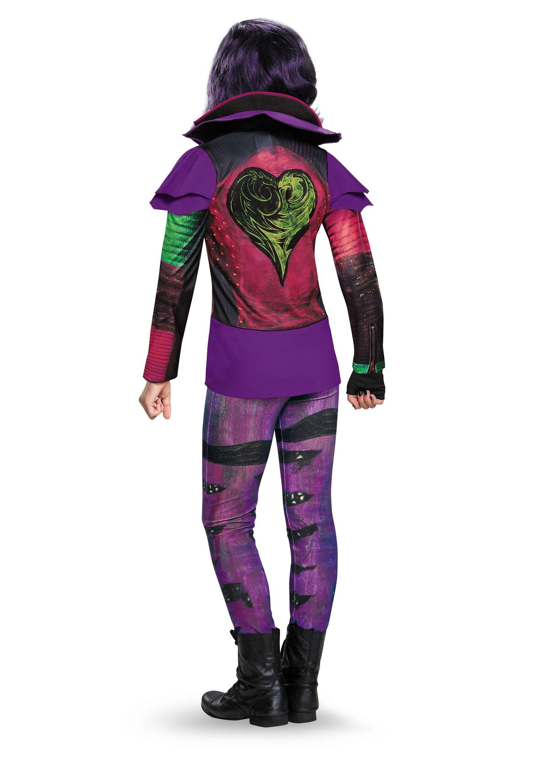 Girls Deluxe Mal Descendants Costume Costume Mal From