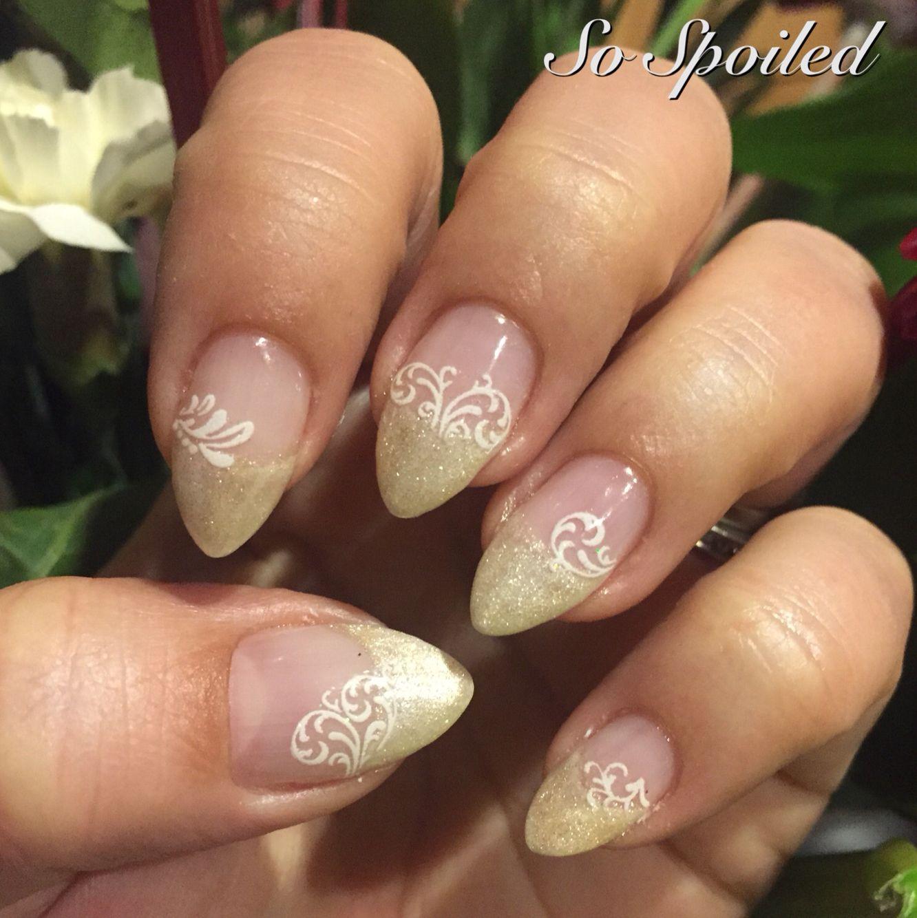 Bio Sculpture Gel Nail Art & Design. Metallic Spring Nails ...