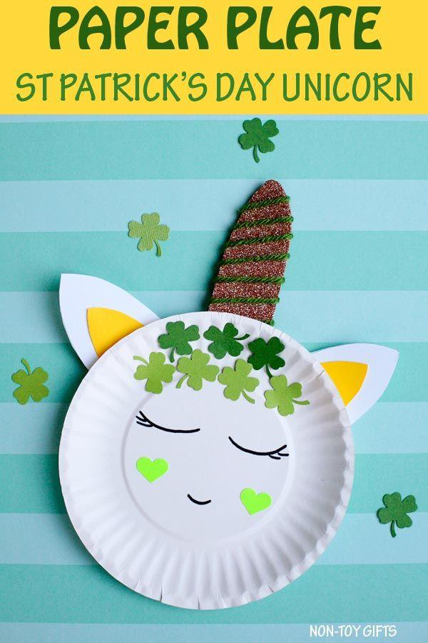 Paper Plate St Patricks Day Unicorn Craft For Kids Stpatricksday
