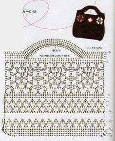 Modèles de sacs au crochet gratuits, partie 25 – Beaux modèles de crochet et modèles de tricot   – Tassen en manden haken